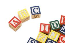 Cubes With Letters Isolated On White Royalty Free Stock Image