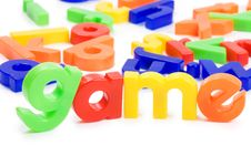 Plastic English Letters Isolated Royalty Free Stock Images