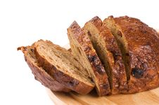 Free The Cut Bread  Isolated On White Stock Image - 18081221