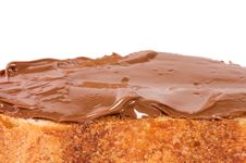 Free Fresh Bread With Chocolate Paste Stock Photo - 18081250