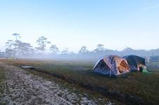 Free Tents With Fog Stock Photos - 18081483