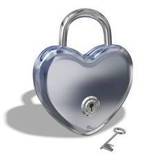Free Heart Lock Stock Photos - 18081683