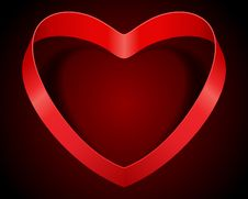 Free Red Heart From Ribbon Royalty Free Stock Photo - 18081855
