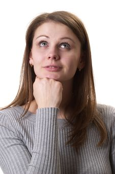 Thinking Woman Royalty Free Stock Photos