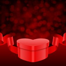 Free Gift Heart With Ribbon And Light Stock Photo - 18081990
