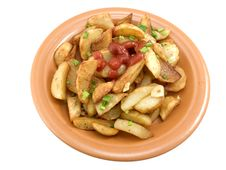 Free Fried Potatoes With Ketchup Royalty Free Stock Images - 18081999