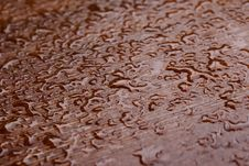 Free Water Drops On Wooden Surface Royalty Free Stock Photography - 18082397