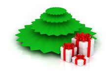 Free Christmas Tree With Gifts Royalty Free Stock Photo - 18082715