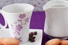 Free Coffee, Milk And Biscuits Royalty Free Stock Image - 18083046