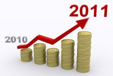 Free Profit Growth 2011 Royalty Free Stock Photo - 18083135