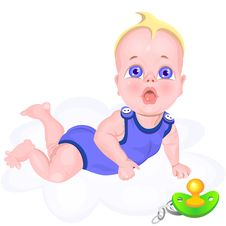 Free Vector Boy Dropped A Pacifier Stock Images - 18083184