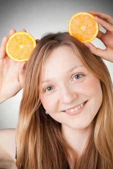 Free Beautiful Young Woman Has Orange Ears Royalty Free Stock Photo - 18083195
