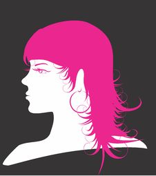 Free Pink Silhouette Stock Images - 18083254