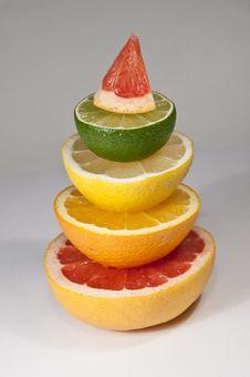 Free Citrus Pyramid Royalty Free Stock Photography - 18083697