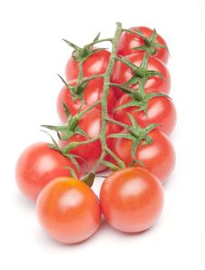 Free Cherry Tomatoes On The Branch Stock Photography - 18083822