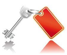 Key With A Label Stock Images