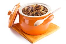 Free Buckwheat In A Pot Stock Photography - 18084002