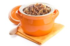 Free Buckwheat With Mushrooms In A Pot Royalty Free Stock Photo - 18084035
