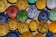 Free Moroccan Pottery Stock Photography - 18084272