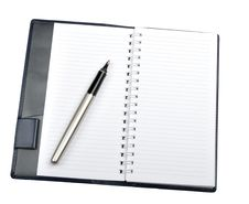Free Notepad And Pen Stock Image - 18084441