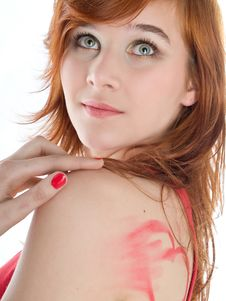Free Beautiful Woman With Red Hair Stock Images - 18084524