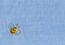 Free Embroidery Of Bee Stock Images - 18084634