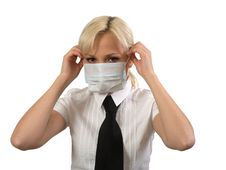 Free Female In Medical Mask. Stock Photo - 18085120