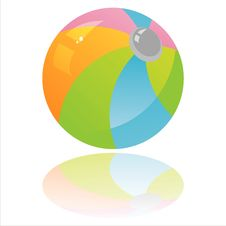 Free Colorful Beach Ball Stock Image - 18085201