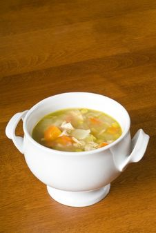 Bowl Of Homemade Chicken Soup Royalty Free Stock Photos