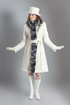 Free Girl In Fur Coat Stock Image - 18085841