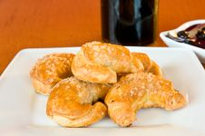 Free White Plate Of Golden Croissonts Stock Photo - 18085920
