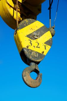Free Hook Of The Old Crane In The Blue Sky Stock Image - 18085961