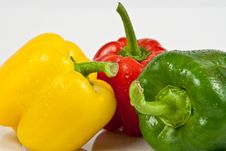 Free Bell Peppers On A White Background Royalty Free Stock Photography - 18086177