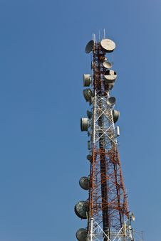 Free Communication Tower And Blue Sky Stock Photo - 18086290