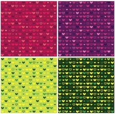Colored Hearts On A Colored Background Royalty Free Stock Images