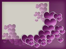 Valentin S Frame With Hearts Royalty Free Stock Photo