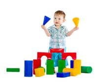 Free Cute Little Baby Boy With Colorful Building Block Royalty Free Stock Photo - 18086935