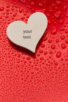 Free Single Paper Valentine S Heart Royalty Free Stock Photos - 18086988