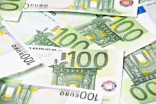 One Hundred Euros Background Royalty Free Stock Images
