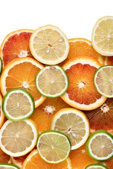 Slices Of Orange, Lemon And Lime Royalty Free Stock Image