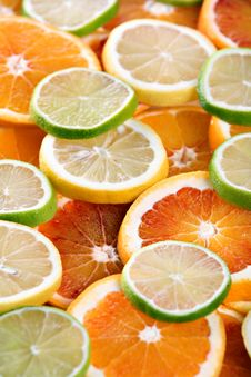 Slices Of Orange, Lemon And Lime