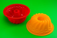 Silicone Cupcake Forms Royalty Free Stock Images