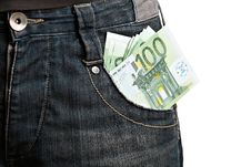 Money In Man S Pocket Stock Photo