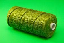 Free Bobbin Of Green Thread Stock Image - 18087801