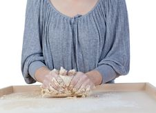Free Kneading Dough Royalty Free Stock Image - 18089036