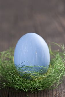 Free Blue Easter Egg Stock Images - 18089084