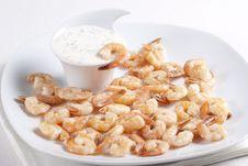 Free Fried Shrimps Stock Image - 18089241