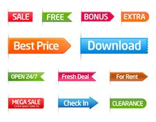 Free Colorful Collection Of Sale Labels Royalty Free Stock Image - 18089506