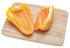 Free Sliced Orange Bell Peppers Royalty Free Stock Photos - 18089658