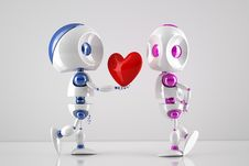 Free Robots In Love Stock Photography - 18089722